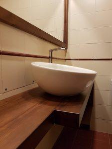 Encimera de baño maciza