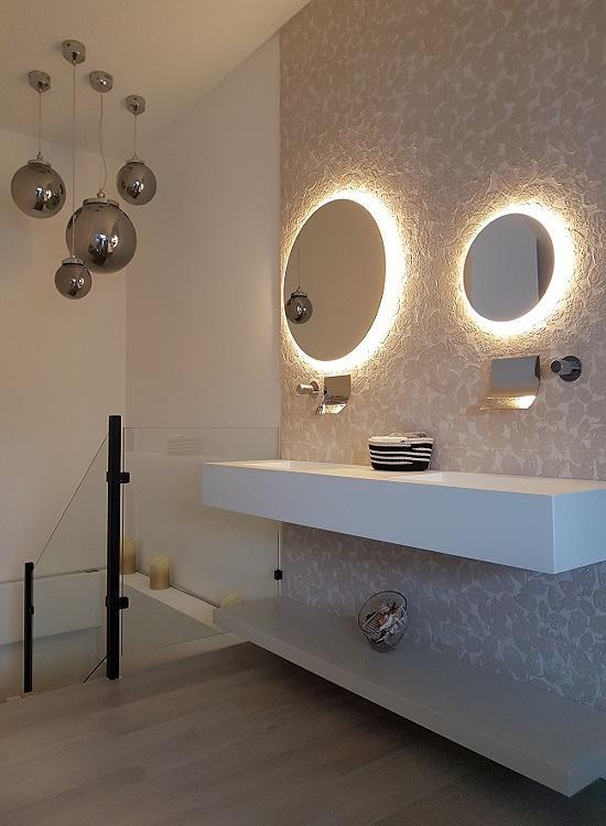 Mueble de baño con espejos circulares_indoormobel